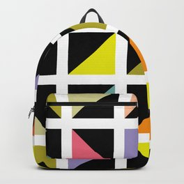 Triangle box pattern Backpack