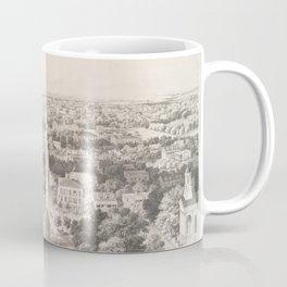 Vintage Pictorial Map of Savannah Georgia (1856) Coffee Mug