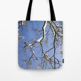 Snowy Branch Tote Bag