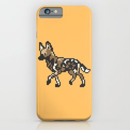 8-bit African Wild Dog iPhone Case