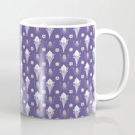 Purple Daisy Folk Art Floral Coffee Mug