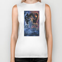Two of Wands - Woman & Wolves Biker Tank