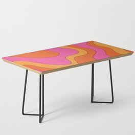 Groovy 60's and 70's Retro Pattern Coffee Table