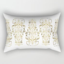 La Vie & La Mort – Gold Palette Rectangular Pillow