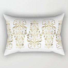 La Vie & La Mort – Gold Palette Rectangular Pillow