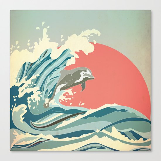 dolphin happiness Canvas Print