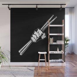 Drummer Power - Drum Sticks Fist Wall Mural