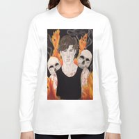 stephen king Long Sleeve T-shirts featuring Stephen by Alice Rachel