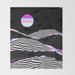 Stripes Mountains Throw Blanket