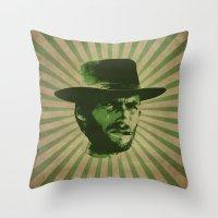 clint barton Throw Pillows featuring Clint by Durro