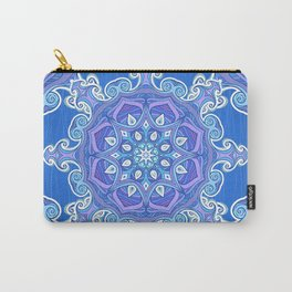 Blue ornate wavy pattern Carry-All Pouch