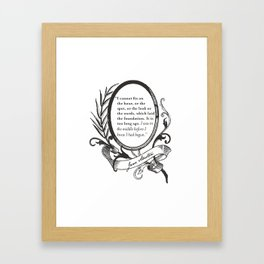 "Jane Austen ""In the Middle"" Framed Art Print"