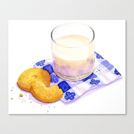 Milk & Cookies Canvas Print