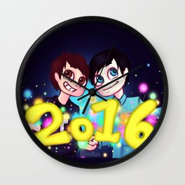 Dan&Phil 2016 Wall Clock