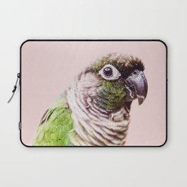 Parot Photography | Peek-a-boo | Tropical | Wildlife | Bird | Blush Pink Laptop Sleeve