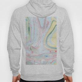 Fluid marble swirls watercolors Hoody