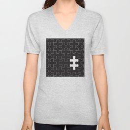 Finding the missing piece II Unisex V-Neck