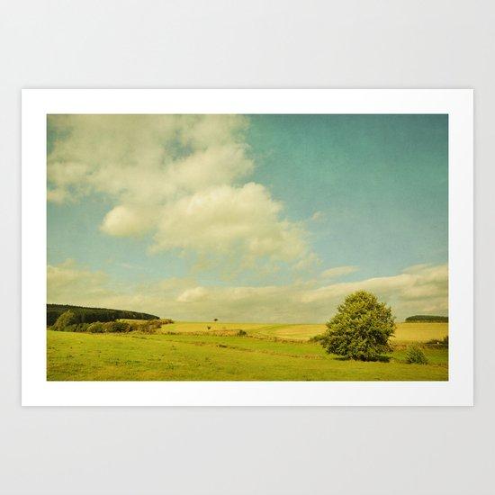 Where the wind blows Art Print