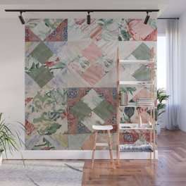 #02#Fabric in pieces pattern Wall Mural