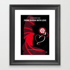 No277-007 My from Russia with love minimal movie poster Framed Art Print