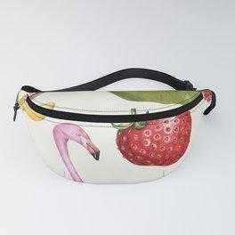 Tropical Flamingo & Fruit Fanny Pack
