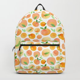 Watercolor Peaches Pattern Backpack