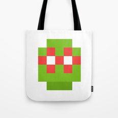 hero pixel green red Tote Bag