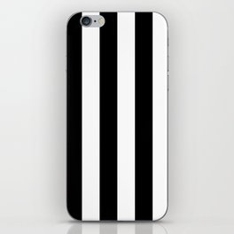 Black & White Vertical Stripes - Mix & Match with Simplicity of Life iPhone Skin