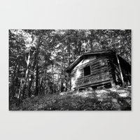 cabin Canvas Prints featuring cabin by imikedunphy