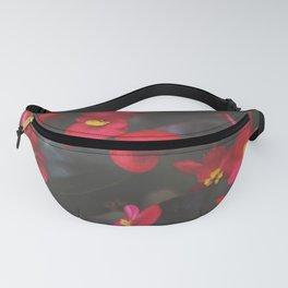 Crimson Begonia Fanny Pack