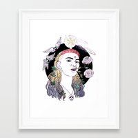 grimes Framed Art Prints featuring Grimes by Laura San Román