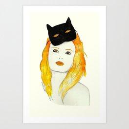 Be a cat Art Print