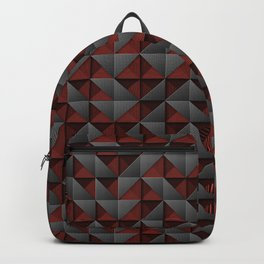 Tech Mosaic Red Backpack