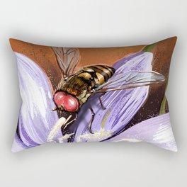 Fly on flower 10 Rectangular Pillow