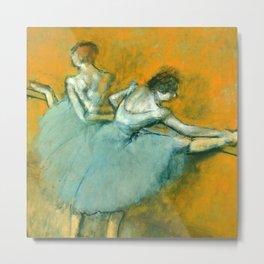 """Edgar Degas """"Dancers at the barre"""" Metal Print"""