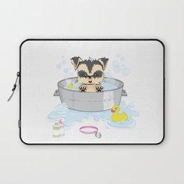 Bathing the puppy Laptop Sleeve
