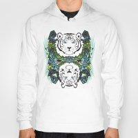 tigers Hoodies featuring Tigers #3 by Ornaart