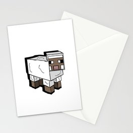 MlNECRAFT Sheep Stationery Cards
