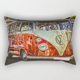 Vintage 21-window classic in red wall art - photograph Rectangular Pillow