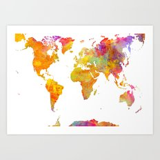 world map 23 Art Print