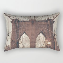 Moody Brooklyn Bridge Rectangular Pillow