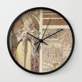 Alfons Mucha Österreich Wall Clock