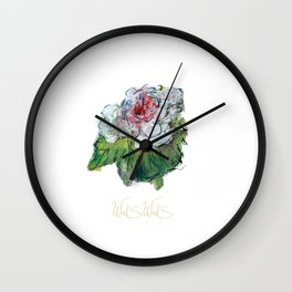 PINK AND WHITE FLOWER Wall Clock