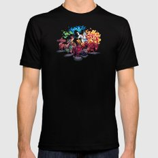 Team Llama – To the Rescue! Black Mens Fitted Tee MEDIUM