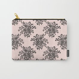 Block Bouquet Black Pink Carry-All Pouch