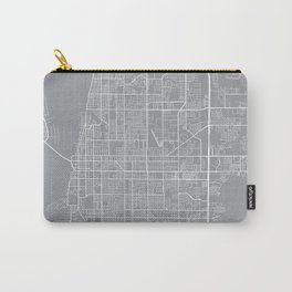 Clearwater Map, Florida USA - Pewter Carry-All Pouch