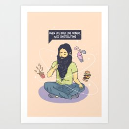 When life gives you crumbs... Art Print
