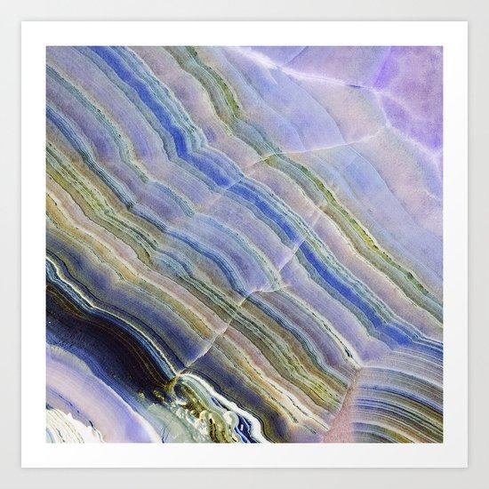 Pastel Onyx Marble II Art Print