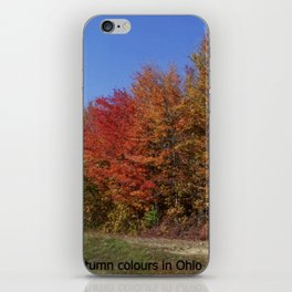 Autumn Colours in Ohio iPhone Skin