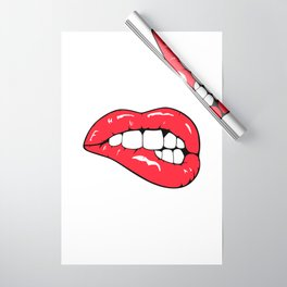 Red Lips Pop art Wrapping Paper